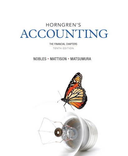 Horngren's Accounting, the Financial Chapters  10th 2014 edition cover