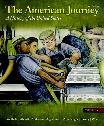 American Journey A History of the United States 6th 2011 edition cover