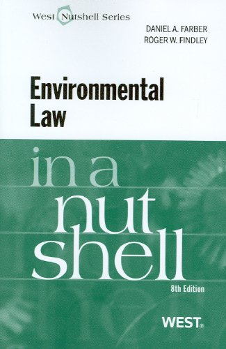 Environmental Law in a Nutshell  8th 2010 (Revised) edition cover