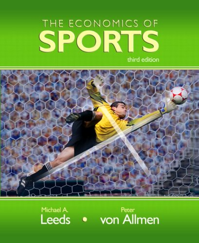 Economics of Sports  3rd 2008 edition cover