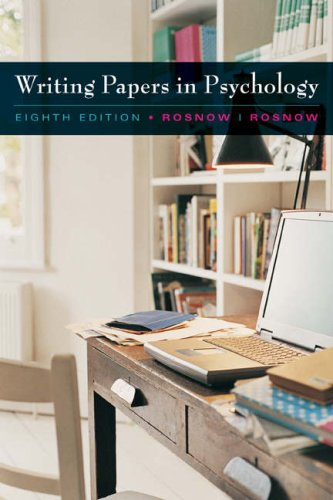 Writing Papers in Psychology  8th 2009 edition cover