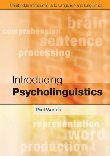 Introducing Psycholinguistics   2012 edition cover