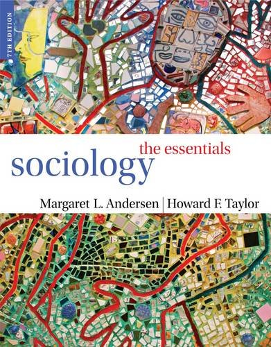 Sociology The Essentials 7th 2013 edition cover