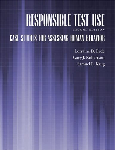 Responsible Test Use Case Studies for Assessing Human Behavior 2nd 2009 edition cover