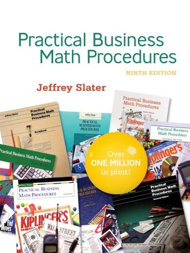 Practical Business Math Procedures  9th 2008 (Student Manual, Study Guide, etc.) edition cover