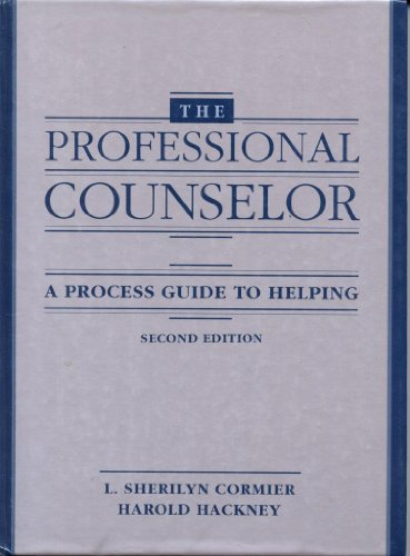 Professional Counselor A Process Guide to Helping 2nd edition cover