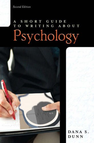 Writing about Psychology  2nd 2008 (Student Manual, Study Guide, etc.) 9780205521562 Front Cover
