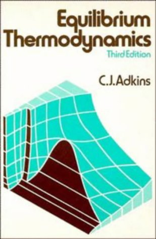 Equilibrium Thermodynamics  3rd 1983 edition cover