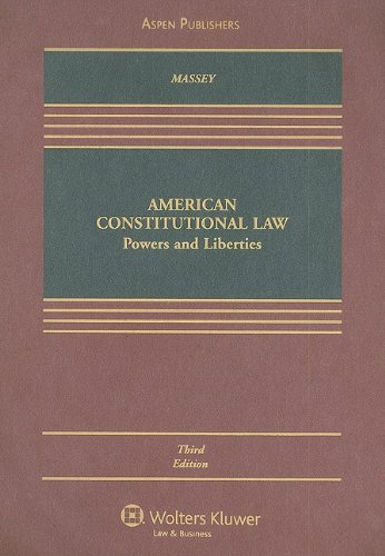 American Constitutional Law Powers and Liberties 3rd (Revised) edition cover
