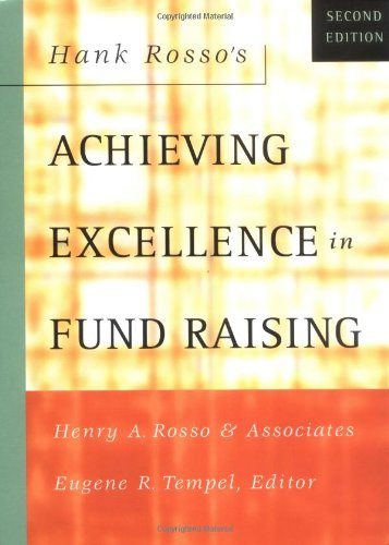 Hank Rosso's Achieving Excellence in Fund Raising  2nd 2002 (Revised) edition cover