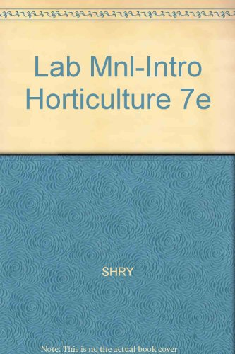 Introductory Horticulture  7th 2007 (Lab Manual) 9781401889562 Front Cover