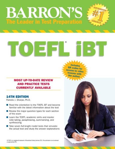 Barron's TOEFL IBT, 14th Edition  14th 2013 (Revised) edition cover