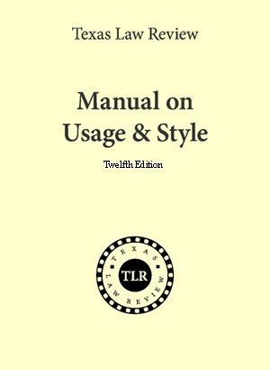 MANUAL ON USAGE+STYLE N/A edition cover