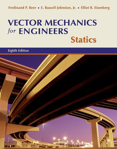 Vector Mechanics for Engineers Statics 9th 2010 edition cover