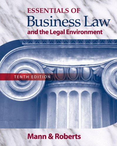 Essentials of Business Law and the Legal Environment  10th 2010 edition cover