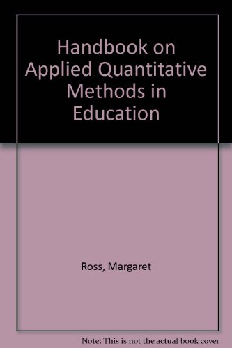 Handbook on Applied Quantitative Methods in Education  2nd (Revised) edition cover