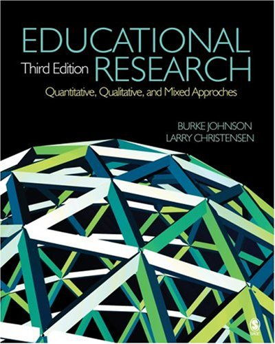 Educational Research Quantitative, Qualitative, and Mixed Approaches 3rd 2008 edition cover