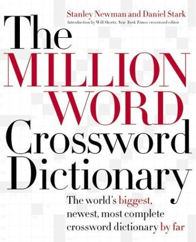 Million Word Crossword Dictionary   2005 9780060517564 Front Cover