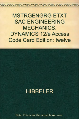 ENGR.MECH.:DYNAMICS-ACCESS CARD N/A 9780132126564 Front Cover