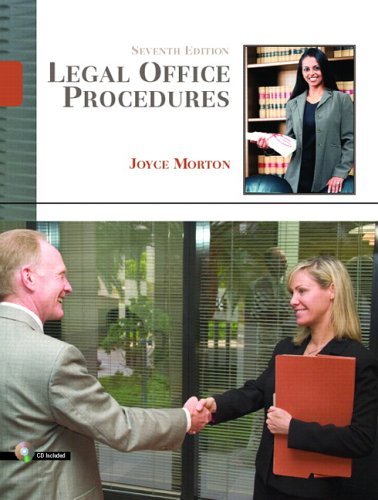 Legal Office Procedures  7th 2007 9780132209564 Front Cover