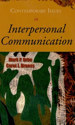 Contemporary Issues in Interpersonal Communication  N/A edition cover