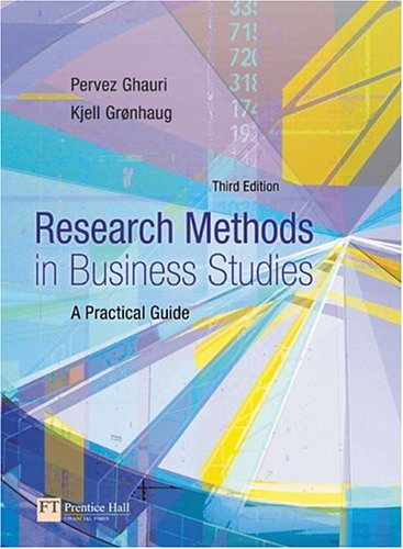 Research Methods in Business Studies A Practical Guide 3rd 2005 (Revised) 9780273681564 Front Cover