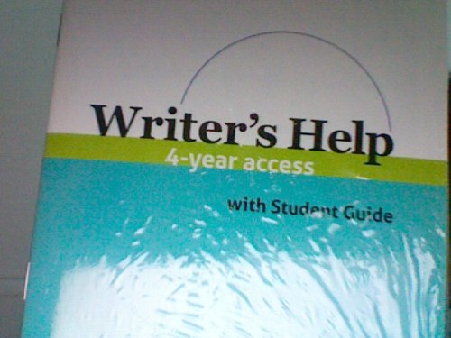 WRITER'S HELP-4 YEAR ACCESS CARD        N/A edition cover