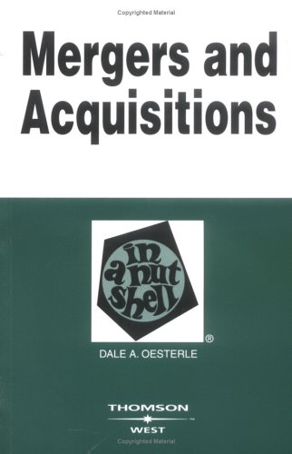 Mergers and Acquisitions in a Nutshell  2nd 2006 (Revised) edition cover