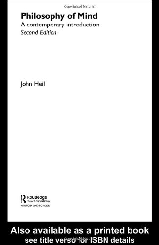 Philosophy of Mind A Contemporary Introduction 2nd 2004 (Revised) edition cover