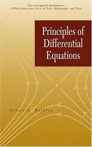 Principles of Differential Equations   2004 9780471649564 Front Cover