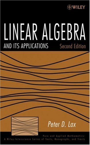 Linear Algebra and Its Applications  2nd 2007 (Revised) edition cover