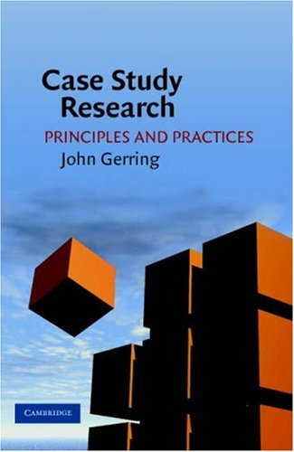 Case Study Research Principles and Practices  2007 edition cover