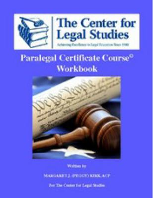 PARALEGAL CERTIFICATE COURSE W N/A edition cover