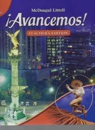 Avancemos! 1 uno - Teacher's Edition (Avancemos! Level 1 Teacher's Edition) [Hardcover] 1st 9780618712564 Front Cover