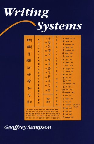 Writing Systems A Linguistic Introduction  1985 edition cover