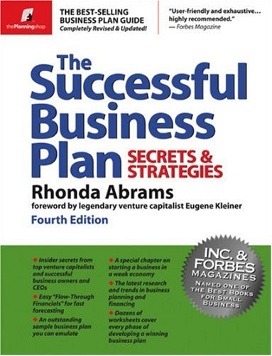Successful Business Plan Secrets and Strategies 4th 2003 (Revised) edition cover