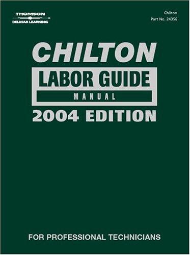 Chilton Labor Guide   2004 edition cover