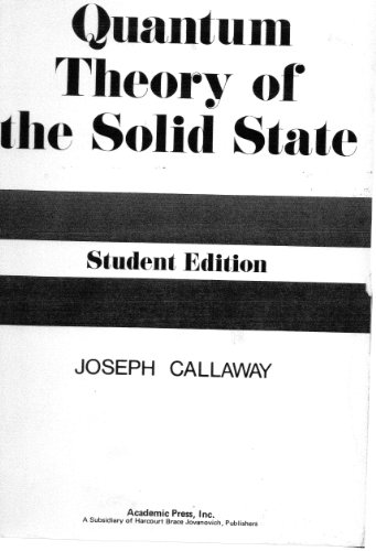 Quantum Theory of the Solid State 1st 1976 9780121552565 Front Cover