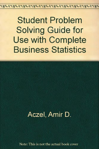 Complete Business Statistics 3rd 1999 (Student Manual, Study Guide, etc.) 9780256218565 Front Cover
