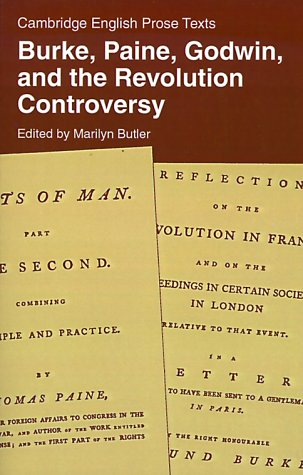 Burke, Paine, Godwin, and the Revolution Controversy   1984 9780521286565 Front Cover