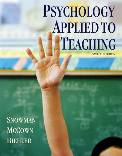 Psychology Applied to Teaching  12th 2009 edition cover