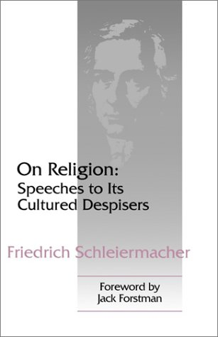 On Religion Speeches to Its Cultured Despisers  1994 9780664255565 Front Cover