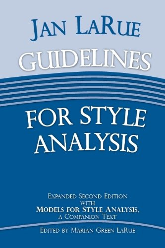 Guidelines for Style Analysis  2011 edition cover