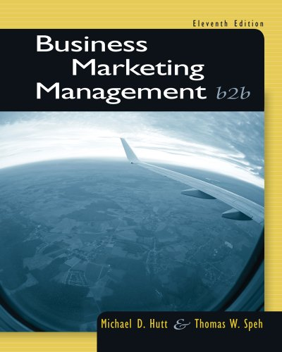 Business Marketing Management B2b 11th 2013 edition cover