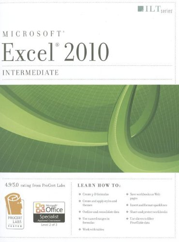 Excel 2010: Intermediate + Certblaster  2011 edition cover