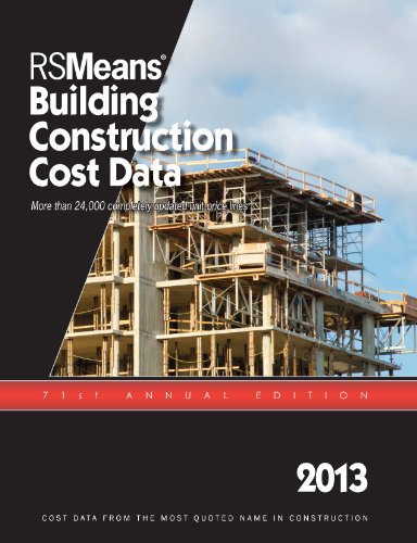 Building Construction Cost Data 2013:   2012 edition cover