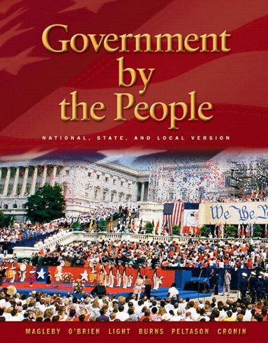 Government by the People National, State, and Local Version 21st 2006 (Revised) 9780131921566 Front Cover