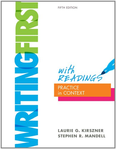 Writing First with Readings Practice in Context 5th 2012 edition cover