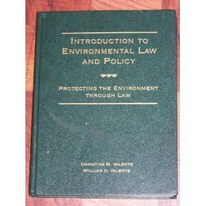 Intro To Environmental Law 1st 9780314043566 Front Cover