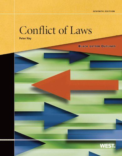 Conflict of Laws  7th 2013 (Revised) 9780314283566 Front Cover
